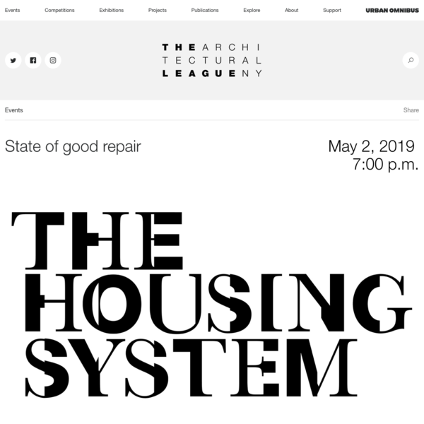 State of good repair - The Architectural League of New York