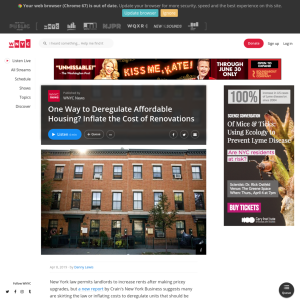 One Way to Deregulate Affordable Housing? Inflate the Cost of Renovations | WNYC News | WNYC
