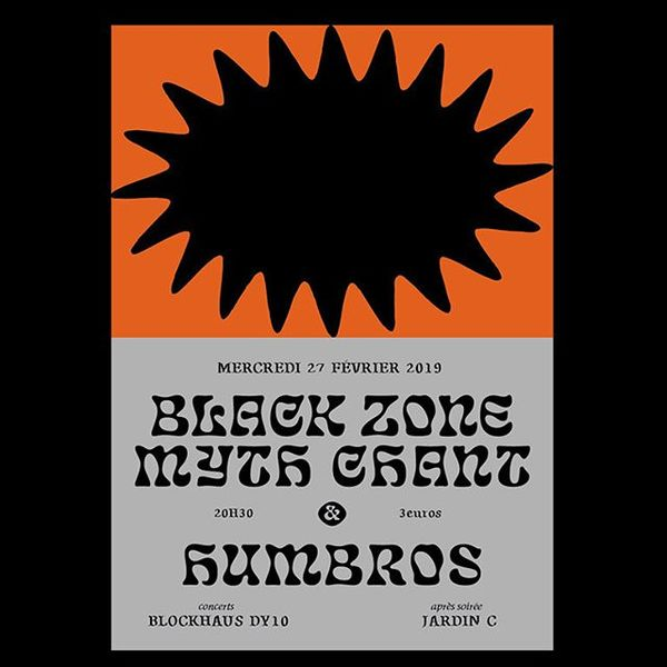 ⚫️ Affiche pour @b.z.m.c et @humbros.music le 27.02.19 au Blockhaus DY10 ! . . . . . #blackzonemythchant #humbros #blockhaus...