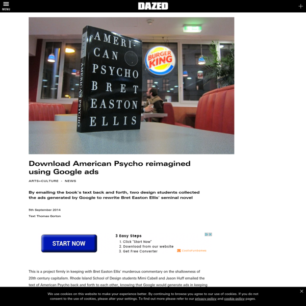 Download American Psycho reimagined using Google ads