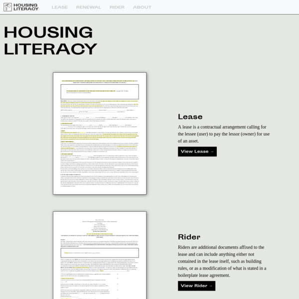 Housing Literacy