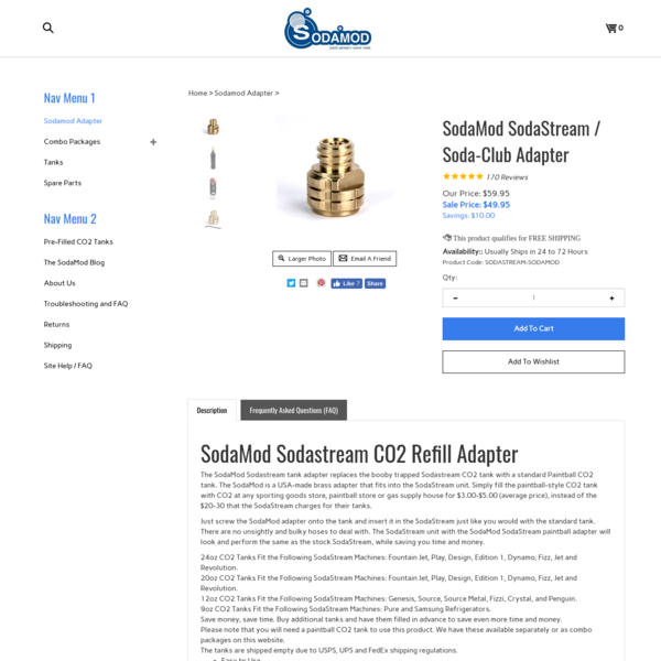 SodaMod Sodastream CO2 Refill Paintball Tank Adapter