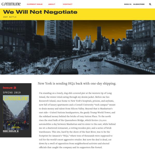 We Will Not Negotiate * Commune
