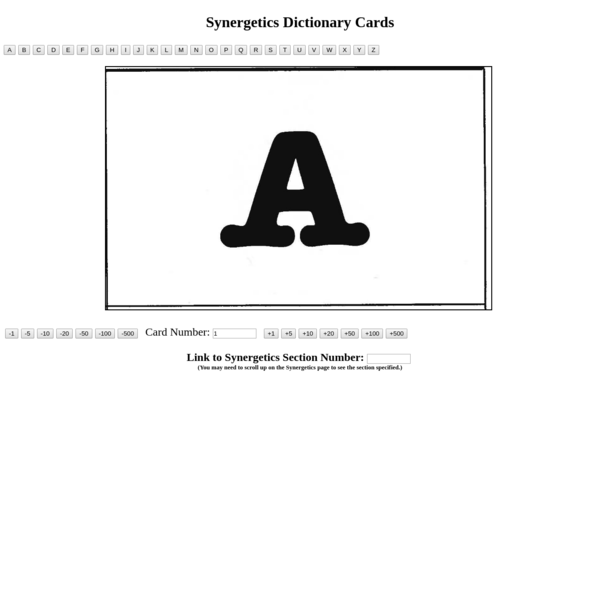 Synergetics Dictionary Card Images