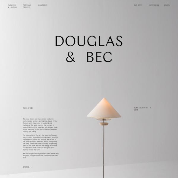 Furniture & Lighting Design - Douglas and Bec