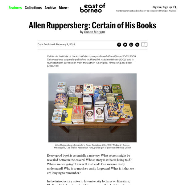 Allen Ruppersberg: Certain of His Books