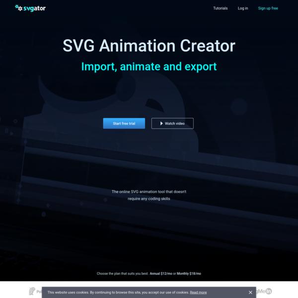 SVG Animation Creator - Animate and Export SVG | SVGator