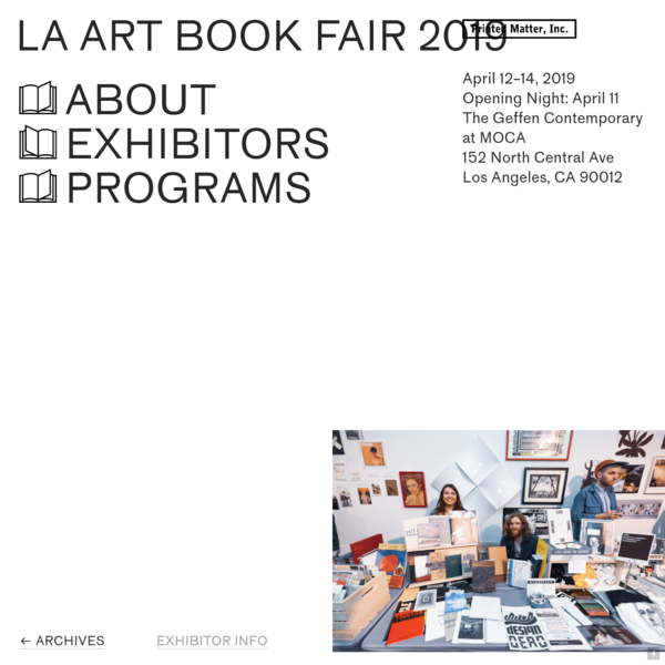 Printed Matter's Los Angeles Art Book Fair 2019