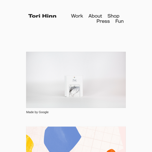 Tori Hinn is a graphic designer and art director in Brooklyn, New York.