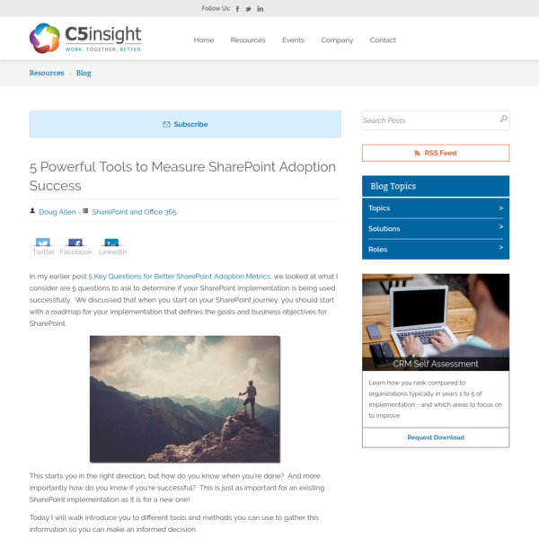 5 Powerful Tools to Measure SharePoint Adoption Success
