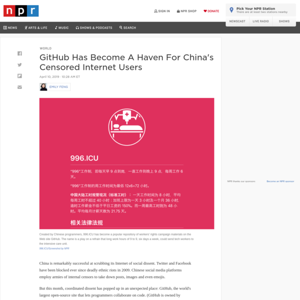 GitHub Has Become A Haven For China's Censored Internet Users