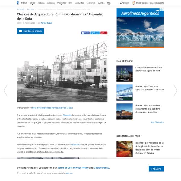Clásicos de Arquitectura: Gimnasio Maravillas / Alejandro de la Sota