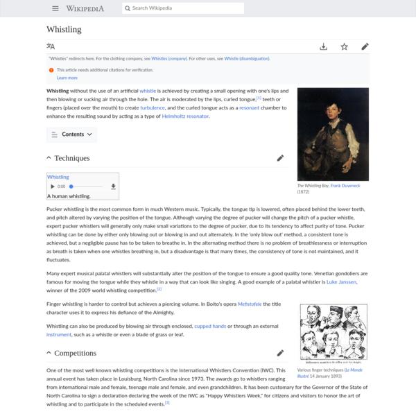 Whistling - Wikipedia