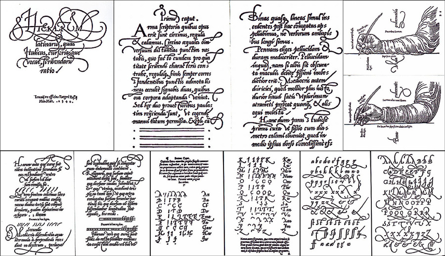 How to Write the Latin Letters, Called Italic or Cursive