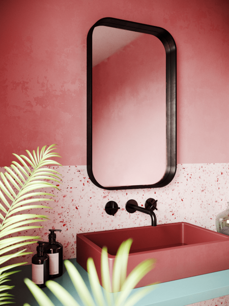 nonagon-style-n9s-terrazzo-bathroom-pink-black-mirror-round-sink-taps-wall-plant-eclectic-red.png