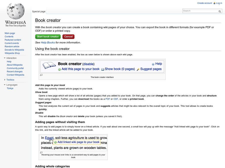 Are na / Book creator - Wikipedia, the free encyclopedia