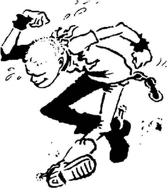 Circle Jerks Skanking Guy Logo
