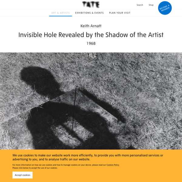 'Invisible Hole Revealed by the Shadow of the Artist', Keith Arnatt, 1968 | Tate