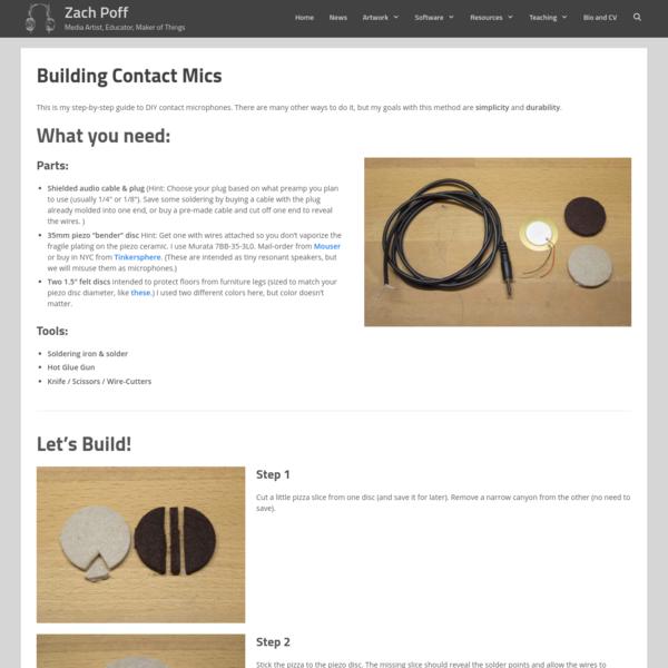 Building Contact Mics