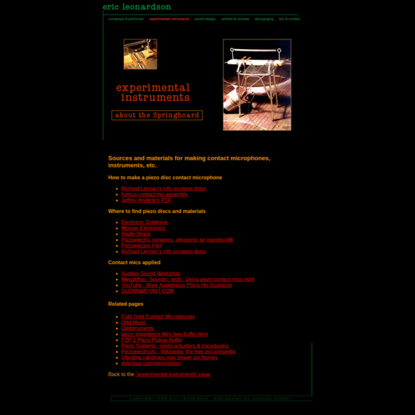 eric leonardson: experimental instruments   useful links