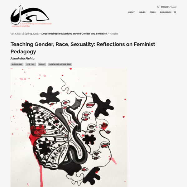 Teaching Gender, Race, Sexuality: Reflections on Feminist Pedagogy