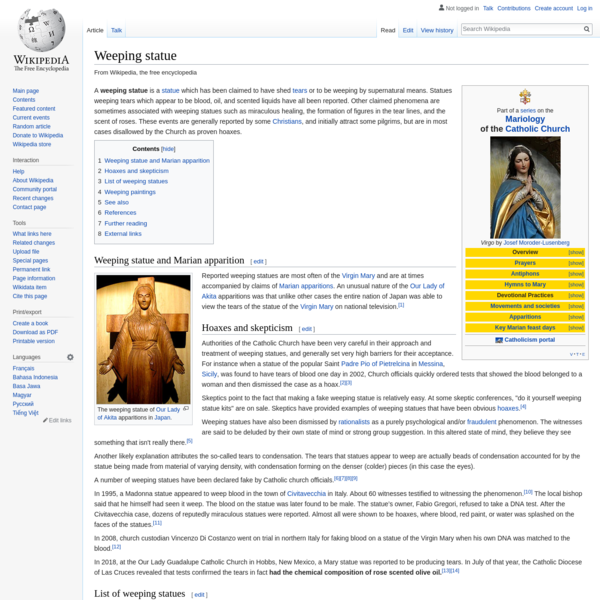Weeping statue - Wikipedia