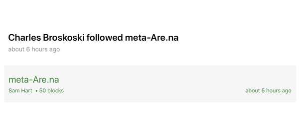 Charles Broskoski followed meta-Are.na