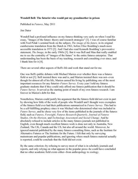 wendellbellfuturist2011.pdf