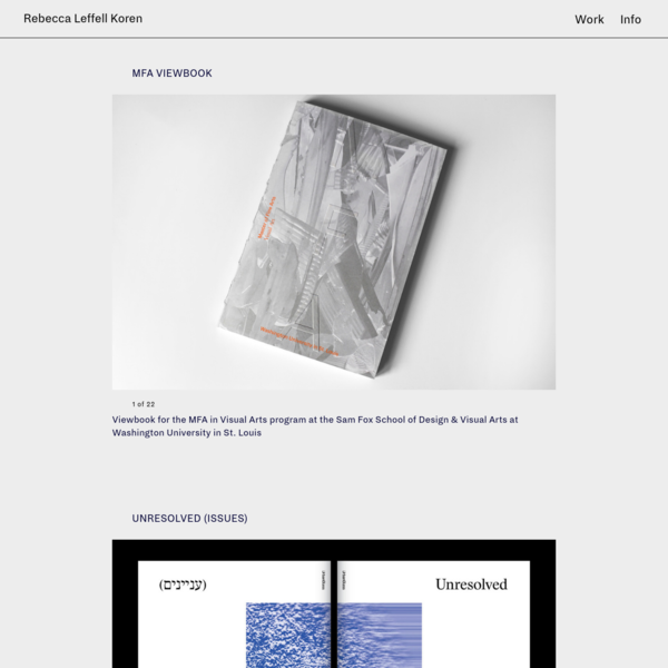 Rebecca Leffell Koren - Graphic Design