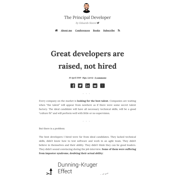 Great developers are raised, not hired