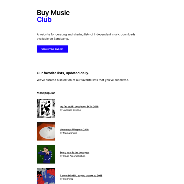 Buy Music Club