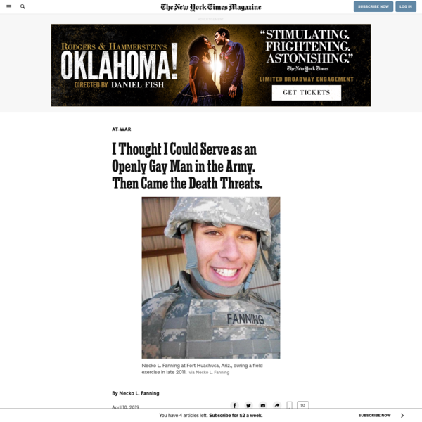 I Thought I Could Serve as an Openly Gay Man in the Army. Then Came the Death Threats.
