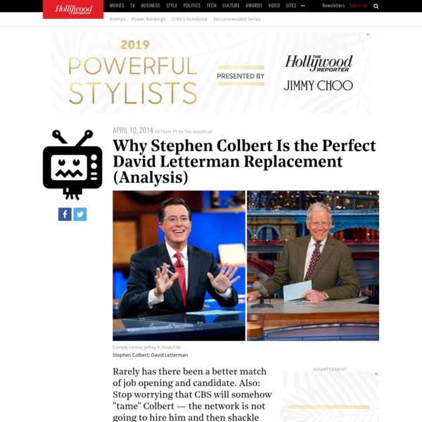 Why Stephen Colbert Is the Perfect David Letterman Replacement (Analysis)   Hollywood Reporter