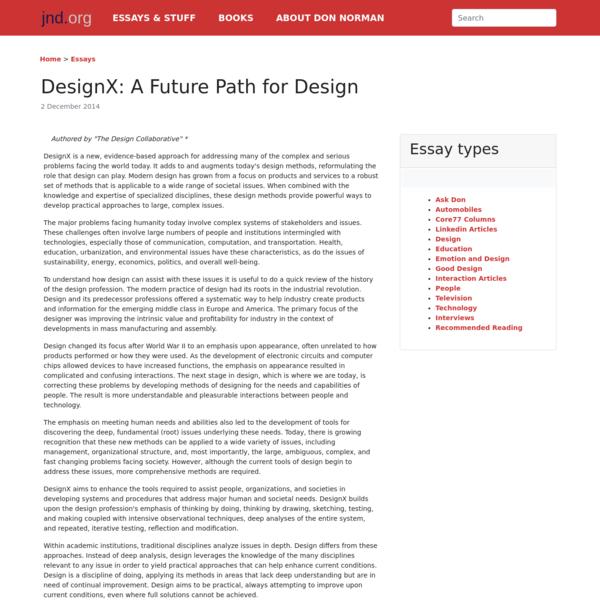 DesignX: A Future Path for Design