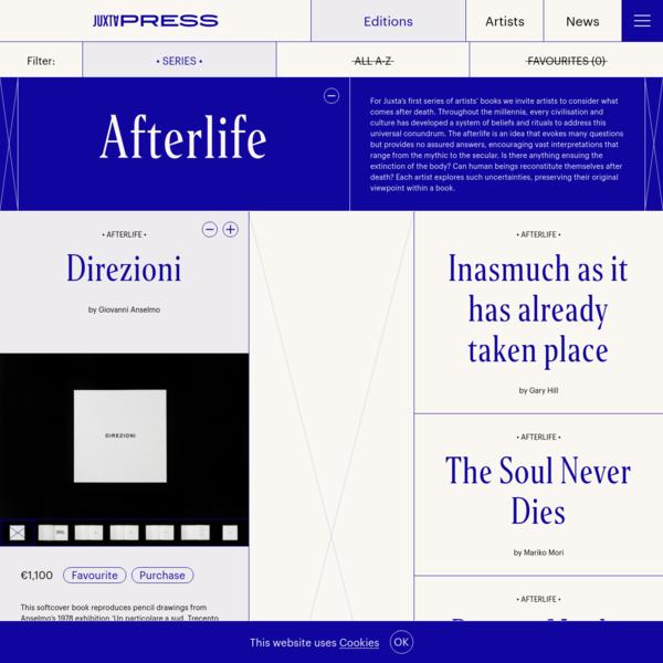 Editions - Juxta Press