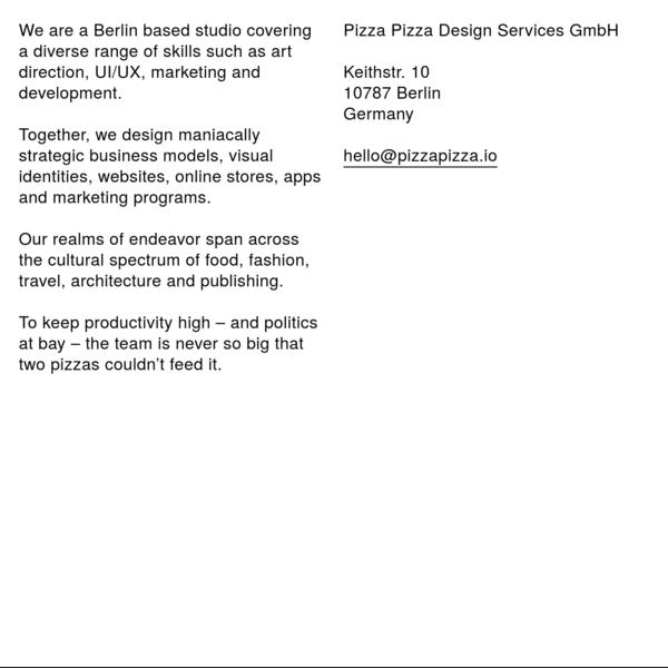 Pizza Pizza Design Services