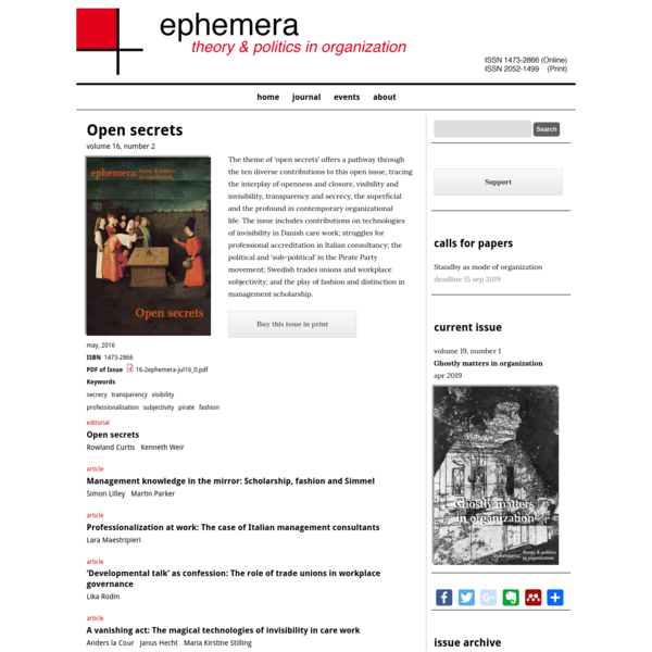 Open secrets | ephemera