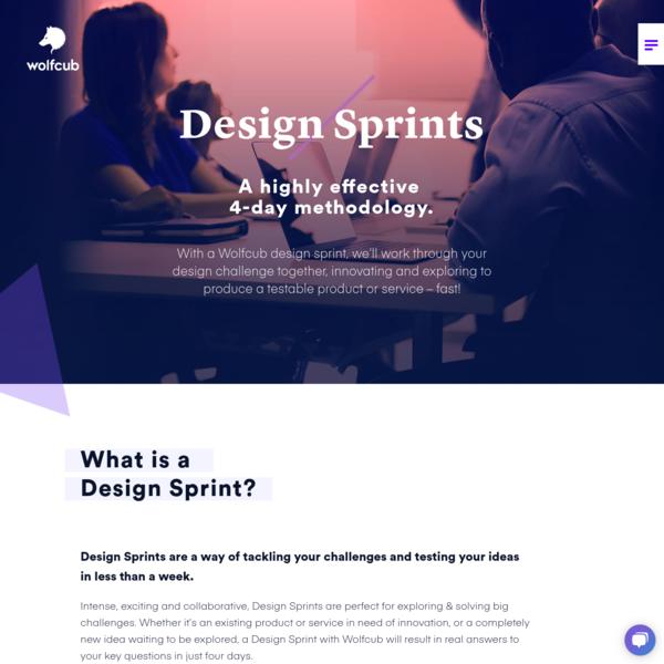 Design Sprints - Wolfcub Digital