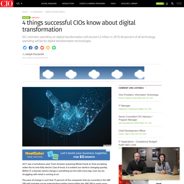 4 things successful CIOs know about digital transformation