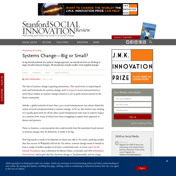 Systems Change-Big or Small? (SSIR)