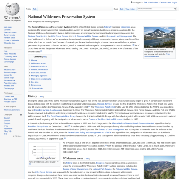 National Wilderness Preservation System - Wikipedia