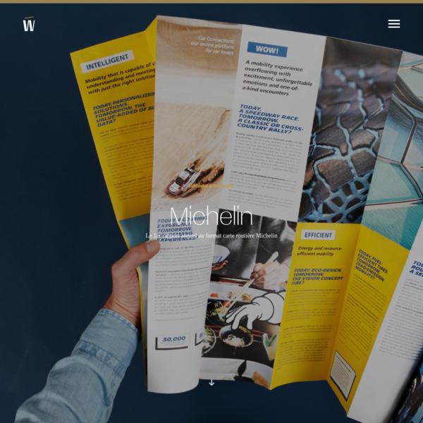 Le 1er rapport annuel au format d'une carte routière Michelin