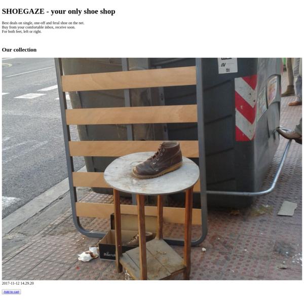 SHOEGAZE - your only shoe shop