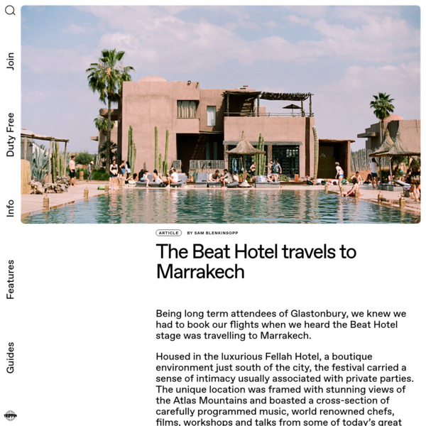 The Beat Hotel travels to Marrakech | Trippin