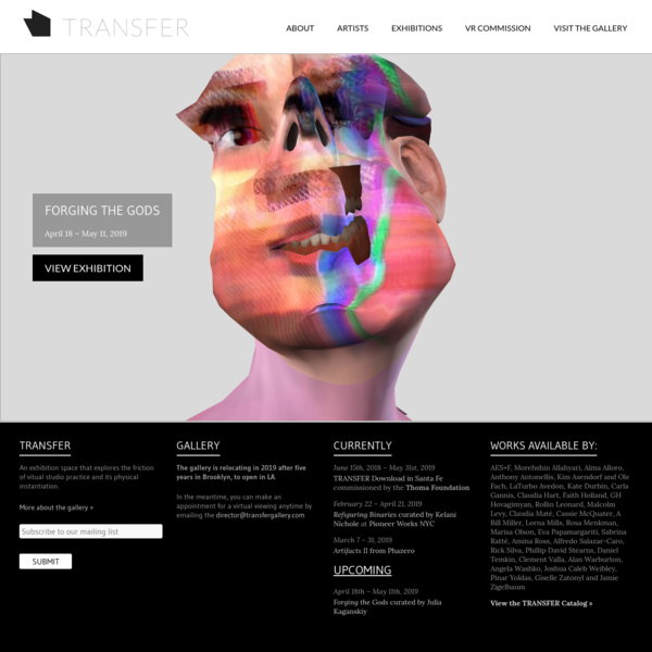 TRANSFER | Networked Contemporary Art Gallery