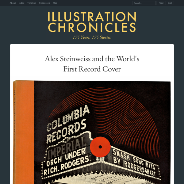 Alex Steinweiss and the World's First Record Cover - Illustration Chronicles