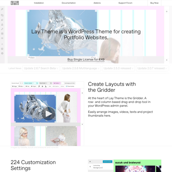 Lay Theme - The Designer's Portfolio Theme