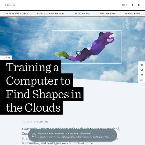 Training a Computer to Find Shapes in the Clouds