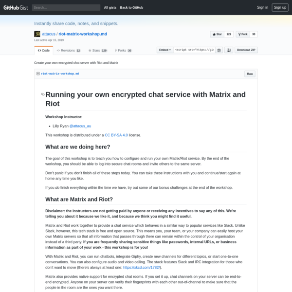 Create your own encrypted chat server with Riot and Matrix