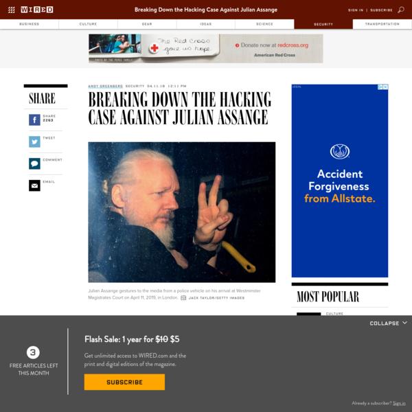 Breaking Down the Hacking Case Against Julian Assange